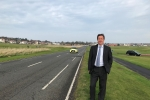 Cllr. Jeremy Findlay on A198 at Gullane